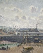 Low Tide at Duquesne Docks, Dieppe, 1902 (oil on canvas) wallpaper mural thumbnail