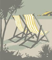Polzeath Deckchairs mural wallpaper thumbnail