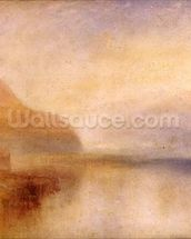 Inverary Pier, Loch Fyne, Morning, c.1840-50 (oil on canvas) wall mural thumbnail