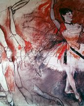 Dancer with Tambourine, or Spanish Dancer, c.1882 (charcoal & pastel on paper) mural wallpaper thumbnail