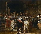 The Nightwatch (colour litho) wall mural thumbnail