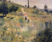 The Path through the Long Grass, c.1875 (oil on canvas) wallpaper mural thumbnail