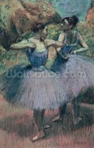 Dancers in Violet (pastel on paper) wallpaper mural thumbnail