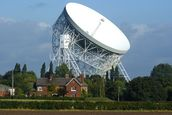 Jodrell Bank Radio Telescope wallpaper mural thumbnail