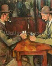 The Card Players, 1893-96 (oil on canvas) mural wallpaper thumbnail