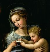 The Virgin of the Rose, c.1518 (oil on canvas) (detail of 3423) wall mural thumbnail