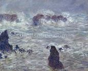 Storm, off the Coast of Belle-Ile, 1886 (oil on canvas) mural wallpaper thumbnail