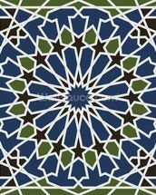 Arabesque seamless pattern mural wallpaper thumbnail