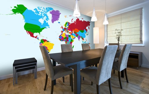 5 world map wall mural ideas wallsauce australia colour map mural gumiabroncs Gallery