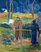 Bonjour, Monsieur Gauguin, 1889 (oil on canvas) wall mural thumbnail