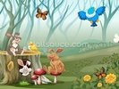 Rabbits and Birds Forest wall mural thumbnail