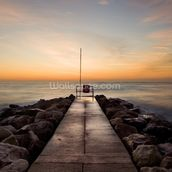 Winter Sunrise at Sandbanks wallpaper mural thumbnail