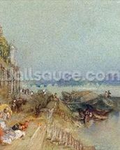 Andernach, 1817 (w/c with pen and black ink on wove paper) mural wallpaper thumbnail