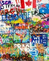 Graffiti Panorama mural wallpaper thumbnail