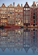 Amsterdam Houses Reflection mural wallpaper thumbnail