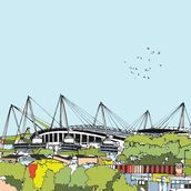 Etihad Stadium mural wallpaper thumbnail