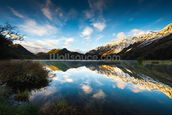 Moke Lake Sunrise wall mural thumbnail