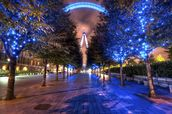 Lights of the London Eye wall mural thumbnail