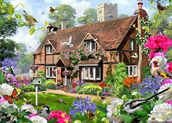 Peony Cottage wall mural thumbnail