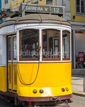 Tram in Lisbon, Portugal mural wallpaper thumbnail