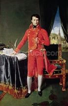 Bonaparte as First Consul, 1804 (oil on canvas) mural wallpaper thumbnail