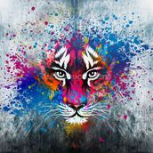 Tiger Art mural wallpaper thumbnail