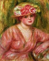 The Rose Hat or Portrait of Lady Hessling mural wallpaper thumbnail