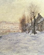 Lavacourt under Snow, c.1878-81 (oil on canvas) wall mural thumbnail