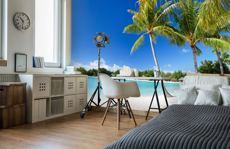 Beach wall murals how to make your holiday last forever for Bora bora wall mural