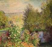 A Corner of the Garden at Montgeron, 1876-7 (oil on canvas) wall mural thumbnail