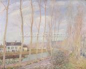 The Loing Canal, 1892 (oil on canvas) mural wallpaper thumbnail