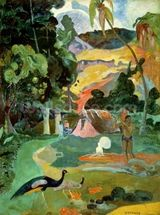 Matamoe or, Landscape with Peacocks, 1892 (oil on canvas) wallpaper mural thumbnail