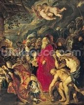 Adoration of the Magi, 1610 (oil on canvas) mural wallpaper thumbnail