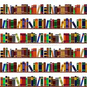 Bookshelf Illustration wallpaper mural thumbnail