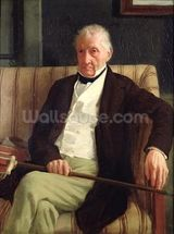 Portrait of Hilaire Degas (1770-1858), grandfather of the artist, 1857 (oil on canvas) wall mural thumbnail