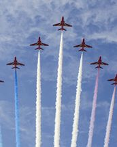 RAF Red Arrows wallpaper mural thumbnail