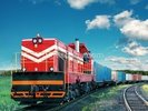Red Freight Train wall mural thumbnail