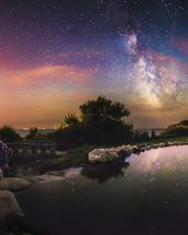 Milky Way Reflection wallpaper mural thumbnail