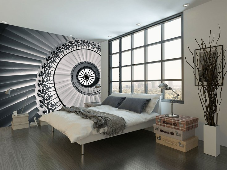 Optical Ilion Staircase Wallpaper