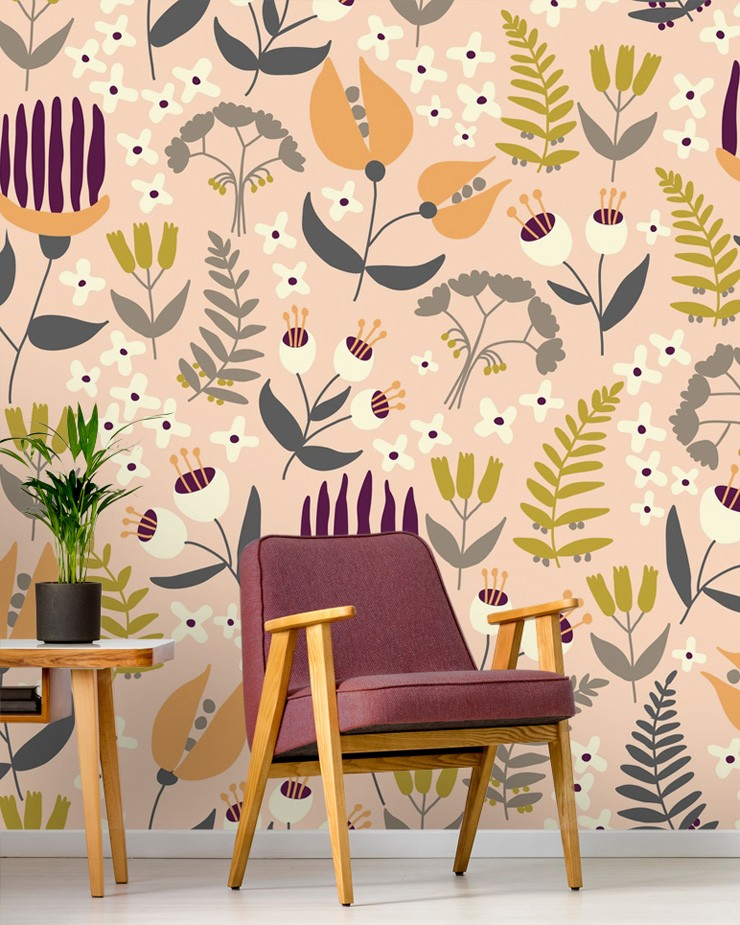 coral-patterned-wallpaper