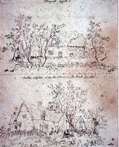 A ruined cottage at Capel, Suffolk mural wallpaper thumbnail