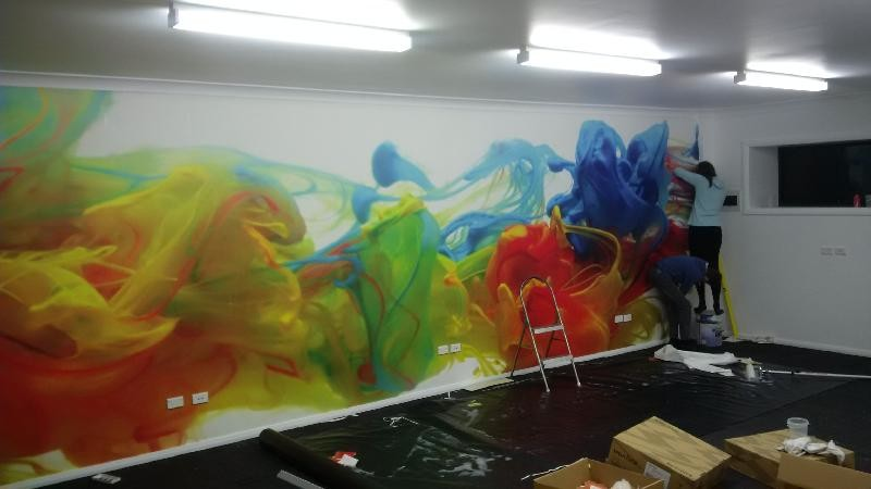 Colourful Ink Water Wall Mural