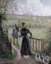 The Woman with the Geese, 1895 wallpaper mural thumbnail