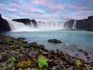 Waterfall of The Gods, Iceland wall mural thumbnail