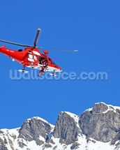 Mountain Rescue Helicopter wallpaper mural thumbnail