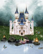 Enchanted castle wall mural thumbnail