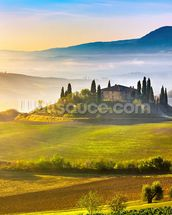 Tuscany at Sunrise mural wallpaper thumbnail