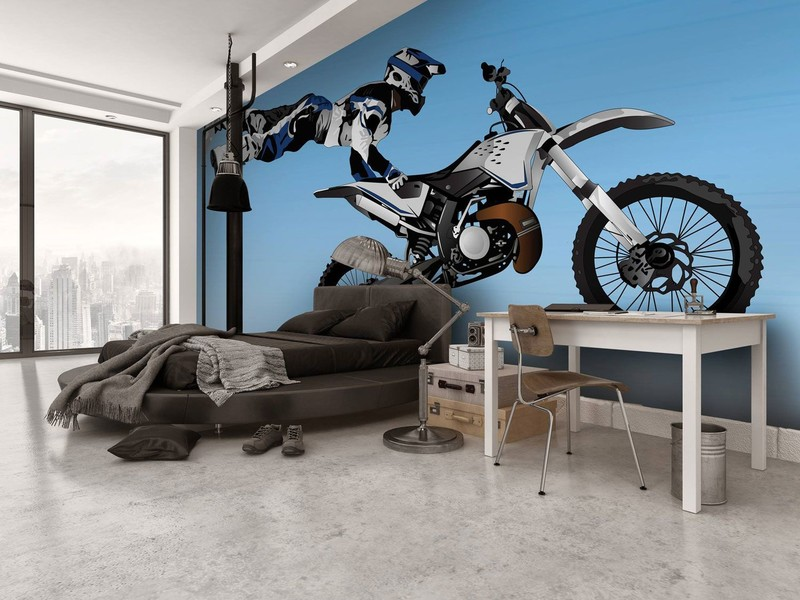 Motorbike-mural-in-boys-bedroom