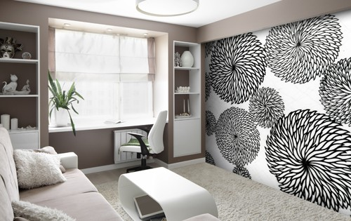 Top 10 wall murals for living rooms wallsauce usa for Purple feature wallpaper living room