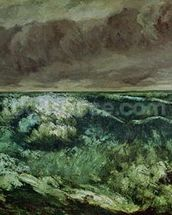The Wave, after 1870 (oil on canvas) wall mural thumbnail